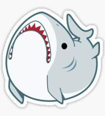 Derpy Great White Shark Sticker