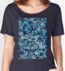 Blue Marbling Vintage Women's Relaxed Fit T-Shirt