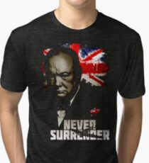 Allied Nations - Winston Churchill Tri-blend T-Shirt