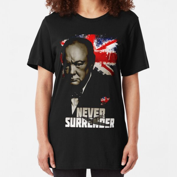 Allied Nations - Winston Churchill Slim Fit T-Shirt