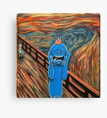 Mr. Meeseeks The Scream Canvas Print