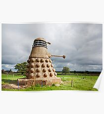 Dalek made from Straw Poster