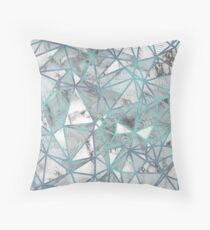 Cojín Fractured Marble Pieces Geometric Blue Texture Design