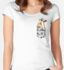 Calvin and Hobbes Pocket Women's Fitted Scoop T-Shirt