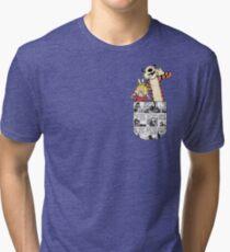 Calvin and Hobbes Pocket Tri-blend T-Shirt
