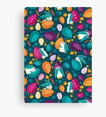 Busy Easter Bunnies 1 Canvas Print