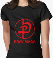 KRAV MAGA logo Women's Fitted T-Shirt