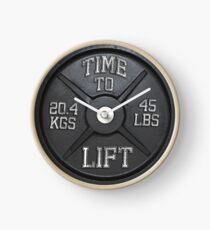 Zeit zu heben - Barbell Club Uhr