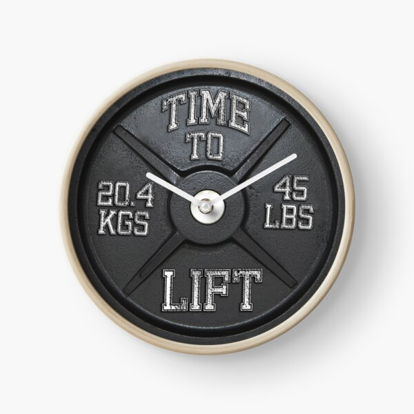 Time To Lift - Barbell Club Clock