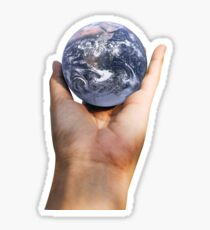 Holding the world in you hand Sticker