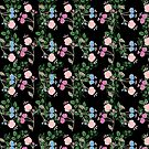 Floral on Black by Greenbaby