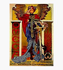 "Alphonse Mucha Vintage Advertisement ""Sans Graine"" Photographic Print"
