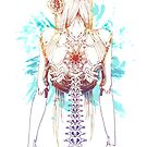 Cyborg Girl Spine (teal) by lushanarts