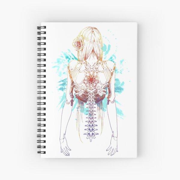 Cyborg Girl Spine (teal) Spiral Notebook