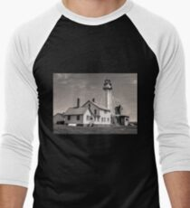 Whitefish Point Lighthouse  Men's Baseball ¾ T-Shirt