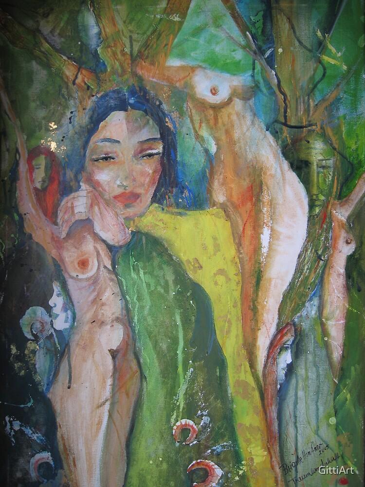TREE NYMPHS by GittiArt