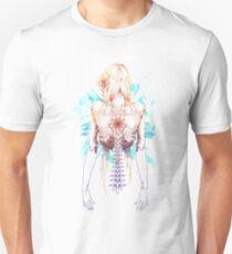 Cyborg Girl Spine (teal) Unisex T-Shirt