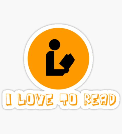 I love to read Sticker