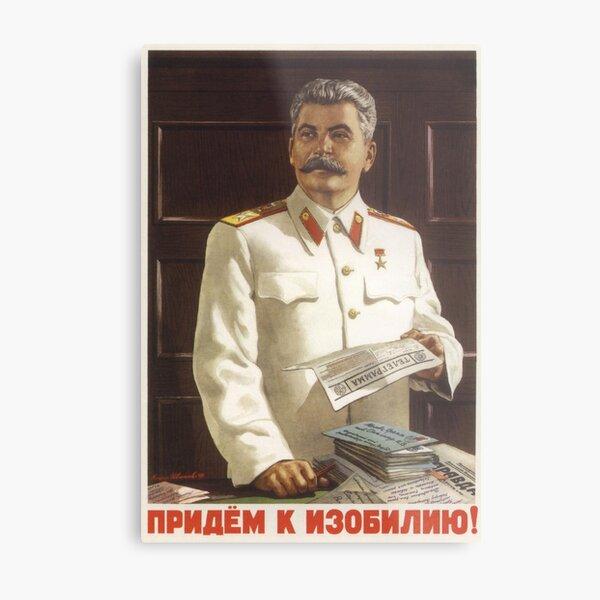 Stalin Poster Soviet Propaganda Metal Print