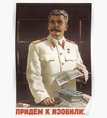 Stalin Poster Sowjetische Propaganda Poster