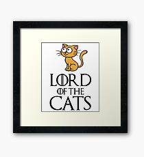 Lord Cats Framed Print