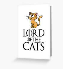 Lord Cats Greeting Card