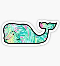 Tropical Leaf Whale Sticker