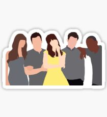 New Girl Characters Sticker
