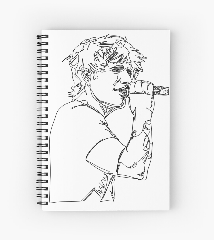 Cuaderno De Espiral Dibujo De Línea Continua De Ed De Vapordoodles