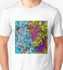 psychedelic graffiti painting abstract in pink yellow blue green Unisex T-Shirt