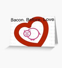 Bacon&love Greeting Card