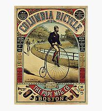 VP - Columbia-Bicycle-Advertisement-Poster Photographic Print