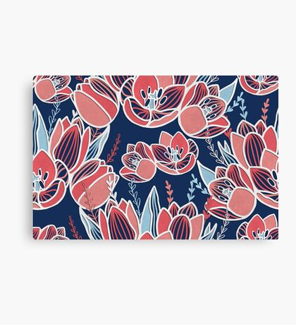 Papercut tulips Canvas Print