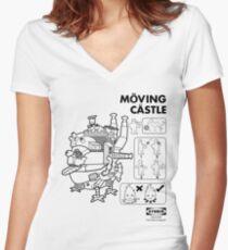 Möving Castle Women's Fitted V-Neck T-Shirt