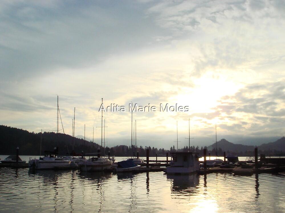 Lowell Dock at Twilight by Arlita Marie Moles