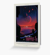 Exoplanet Trappist 1e Greeting Card