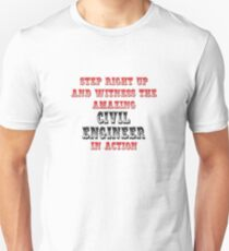 The Amazing Civil Engineer In Action Unisex T-Shirt