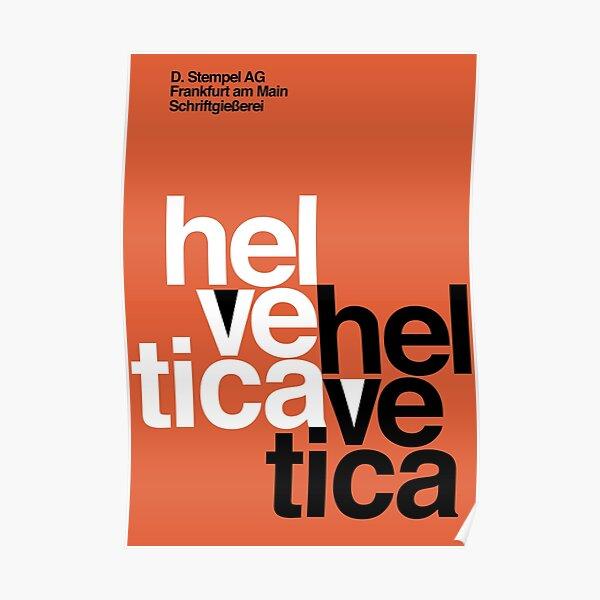 Helvetica Vintage Poster Poster