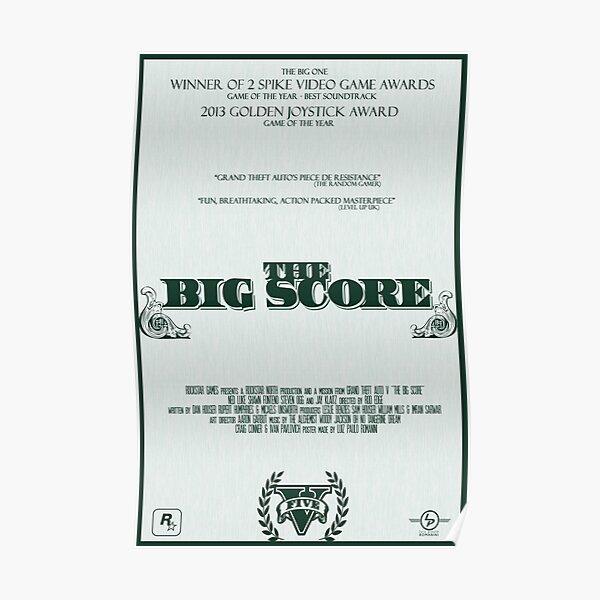 The Big Score - GTA V Póster