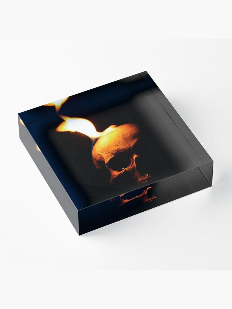 Alternate view of Fire Demon of Muspelheim Acrylic Block