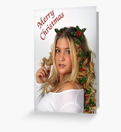 Christmas Curls Greeting Card
