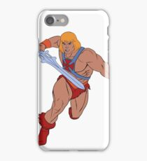 He-man in action - Filmation Style iPhone Case/Skin