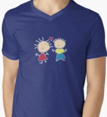 Tiny Tabi Falls in Love Men's V-Neck T-Shirt