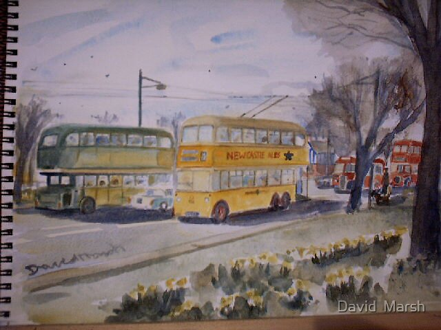 Newcastle upon Tyne Trolley bus by David  Marsh