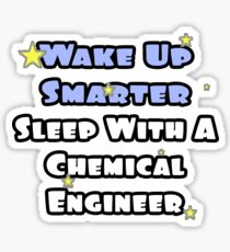 Wake Up Smarter, Sleep With A Chemical Engineer Sticker