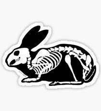 Black and White Skeleton Rabbit Sticker