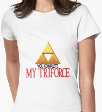You complete my triforce Women's Fitted T-Shirt