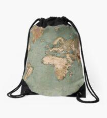 Ancient World Map Drawstring Bag
