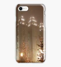 LDS: Salt Lake Temple (Christmas Lights) iPhone Case/Skin