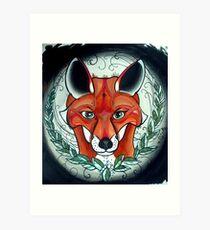 sly fox tattoo art Art Print